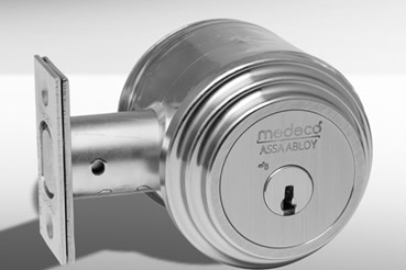 Medeko Residential deabolt installation by Riverside master locksmith